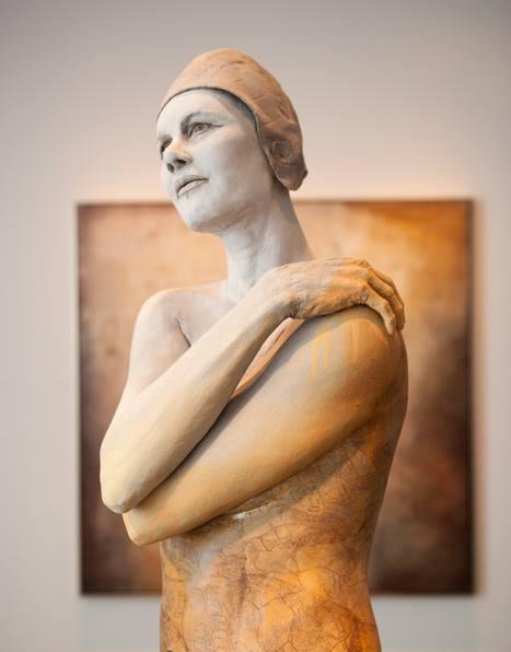 Amelia   62x18x10 - Susannah Zucker Contemporary Ceramic Clay Sculpture Art