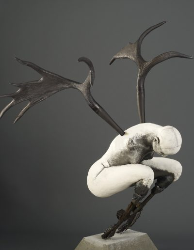 Black Crouch   65x54x40 -Susannah Zucker Contemporary Ceramic Clay Sculpture Art