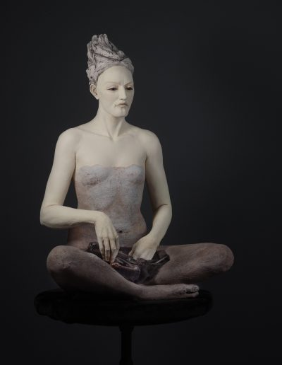 Clutch   36x26x32 - Susannah Zucker Contemporary Ceramic Clay Sculpture Art