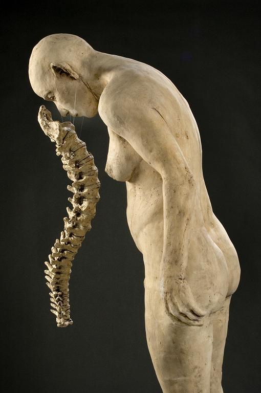 Boned   62x26x22 - Susannah Zucker Contemporary Ceramic Clay Sculpture Art